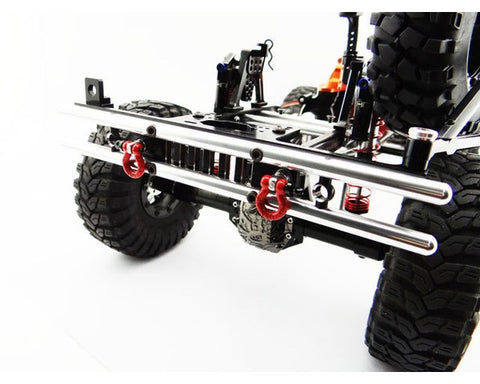 Tubular Rear Bumper w/ Winch & Light Mount