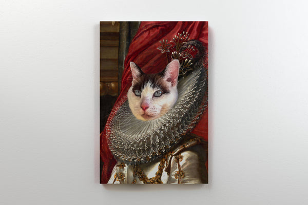 Fair Princess - On Wall Front Posh Pet Portrait