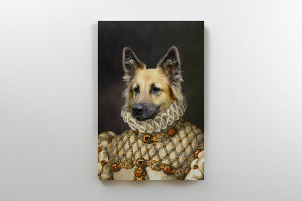 Stately Noble Lady - On Wall Front Posh Pet Portrait