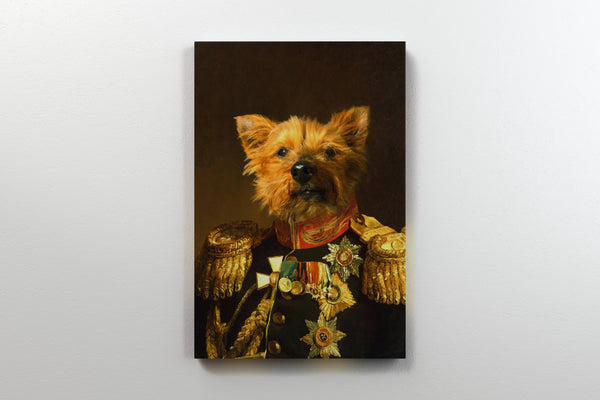 Gallant General - On Wall Front Posh Pet Portrait