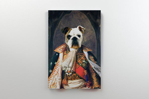 Dashing Duke - On Wall Front Posh Pet Portrait