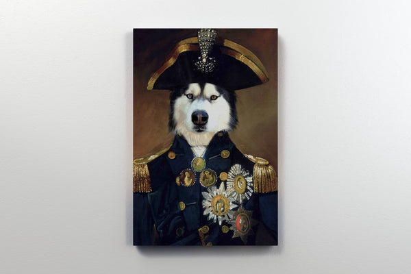 Courageous Captain - On Wall Front Posh Pet Portrait