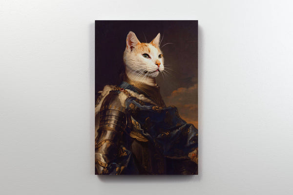 Valiant Knight - On Wall Front Posh Pet Portrait
