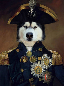 Courageous Captain - Main Posh Pet Portrait