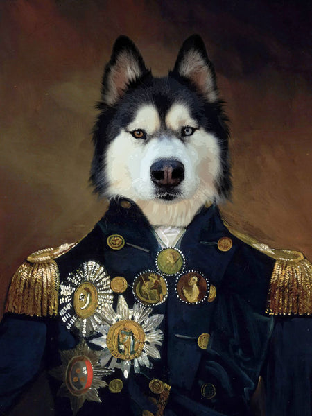 Courageous Captain - Without Hat Posh Pet Portrait