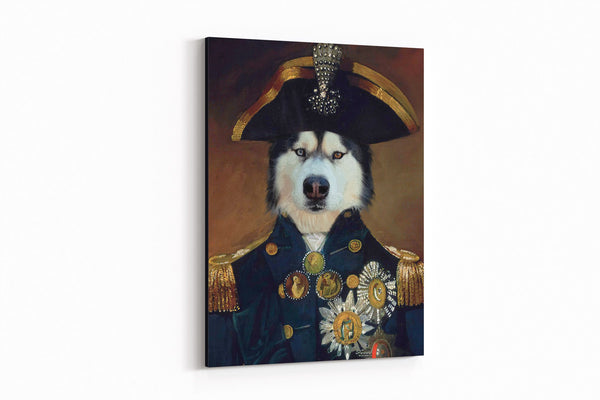 Courageous Captain - On Wall Posh Pet Portrait