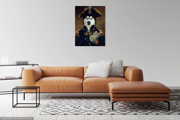 Courageous Captain - In Room Posh Pet Portrait