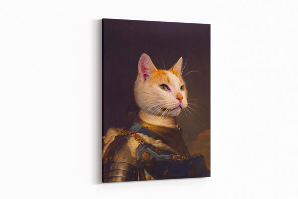 Valiant Knight - On Wall Posh Pet Portrait