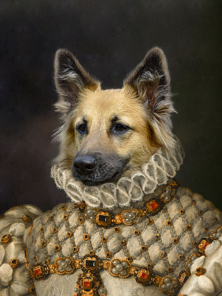 Stately Noble Lady - Main Posh Pet Portrait