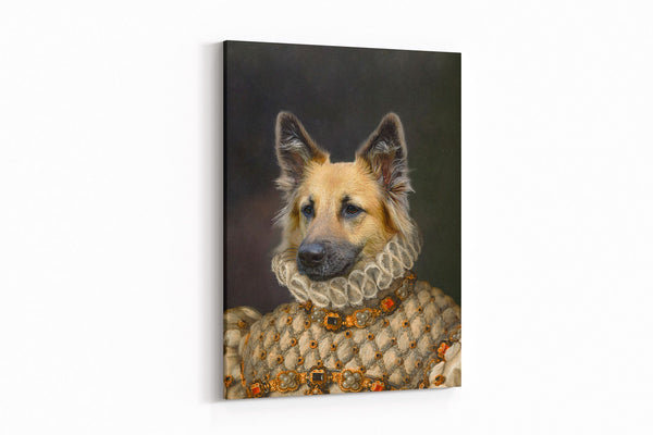 Stately Noble Lady - On Wall Posh Pet Portrait