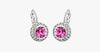 Austrian Crystal Round Dangle Drop Earrings - FREE SHIP DEALS