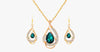 Green Emerald Pendant Set - FREE SHIP DEALS