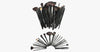 24 Piece Jet Black Make Up Brush Set - FREE SHIP DEALS