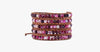 4MM  Faceted Agate Natural Stone Wrap Bracelet - FREE SHIP DEALS