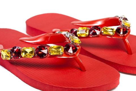 Glamdals- Walking on Sunshine - Red & Gold