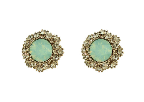 Four Corners Aqua Crystal Earrings - 18E250AQ