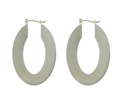 Four Corners Silver Earrings  - 18E451GN