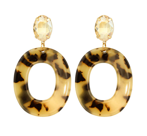 Four Corners Hoop Earrings - 18E519PNY