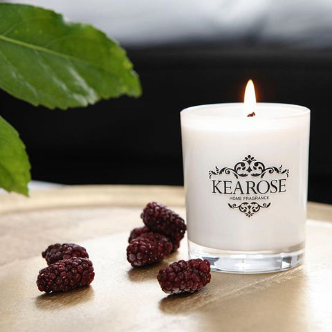 KEAROSE - White Lily and Geranium - white candle