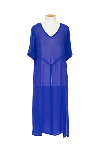 Cashews - Split Tunic - Capri Blue C1002
