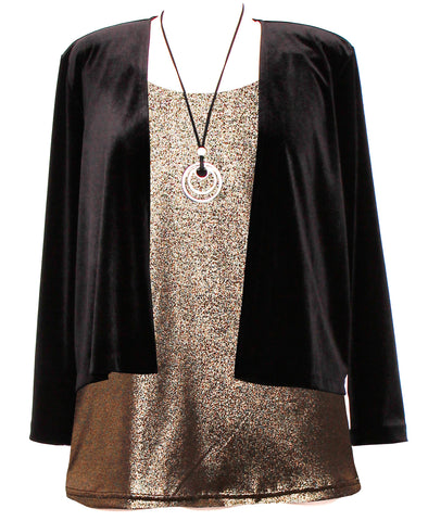 Cashews - Crop Jacket - Stretch Velvet