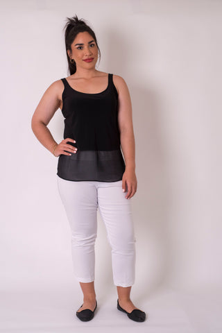 Cashews - Long Band Singlet - Frenzy knit and Georgette B59