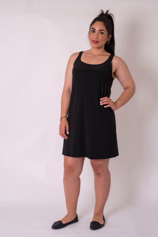 Cashews - Singlet Dress - Black Frenzy Knit