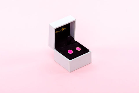 Home Lee Earrings - Pink Hex