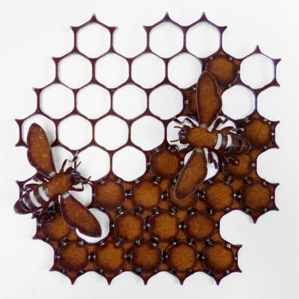 Ironweed - Honeycomb with Bees