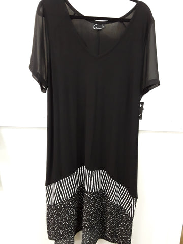 Cashews - Sheer Sleeve Dress - Deception