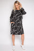 PQ Collection L/S Layer Dress - Marble Malt