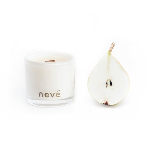 Neve - French Pear + Brown Sugar -  Candle (Medium) Limited edition black jars