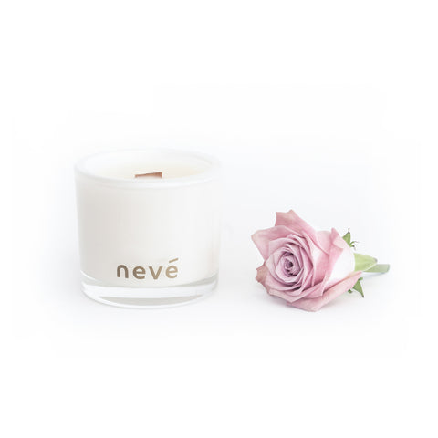 Neve - Pink Peony + Prosecco -  Candle (Medium) Limited Edition black Jars