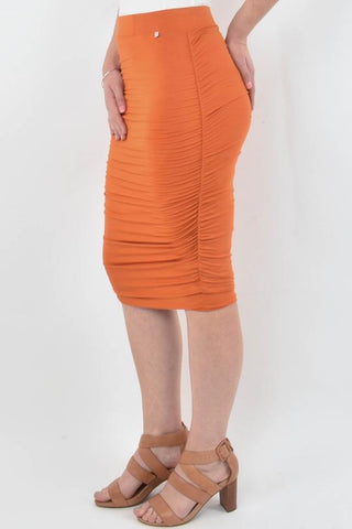 PQ Collection Ruche Skirt - Sunset
