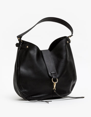 Stella + Gemma Handbag Meghan - Black Leather SGBA1133
