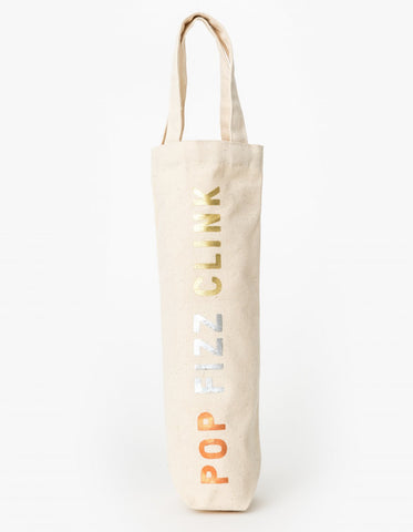 Canvas Wine Bag - Pop Fizz Clink