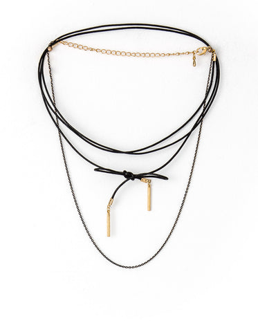Stella + Gemma Necklace - Gold Lariat w/ Chain