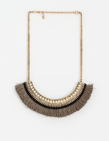 Stella + Gemma Necklace - Lotus Fringe Collar