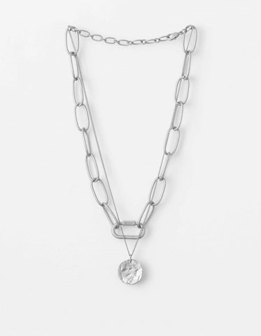 Stella + Gemma Necklace  - Silver chain with pendant