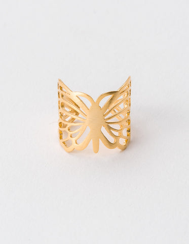 Ring Gold Butterfly