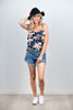 WC1334 Fred Cami - Knit Navy Floral