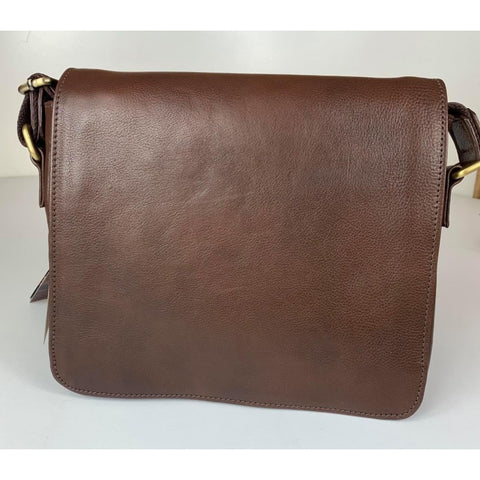 Baron Leathergoods -Tui Messenger Handbag - Brown
