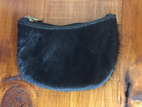 Cowhide coin purse and keyring