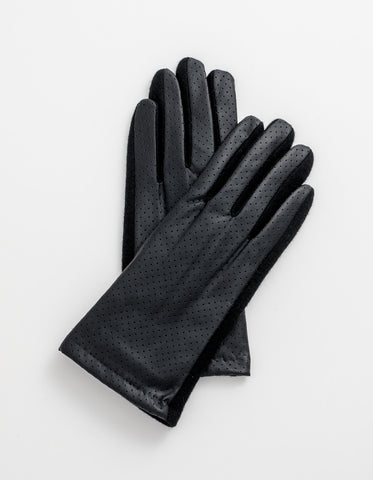 Gloves - Black leather
