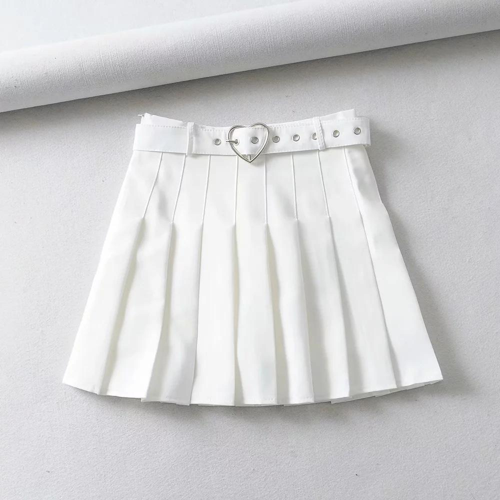 Bestkawaii-Heart-Belt-Mini-Pleated-Skirt