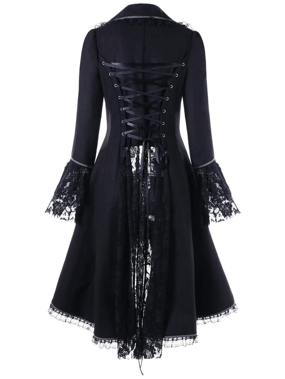Bestkawaii-Lace-Sleeve-Waisted-Tuxedo-Coat