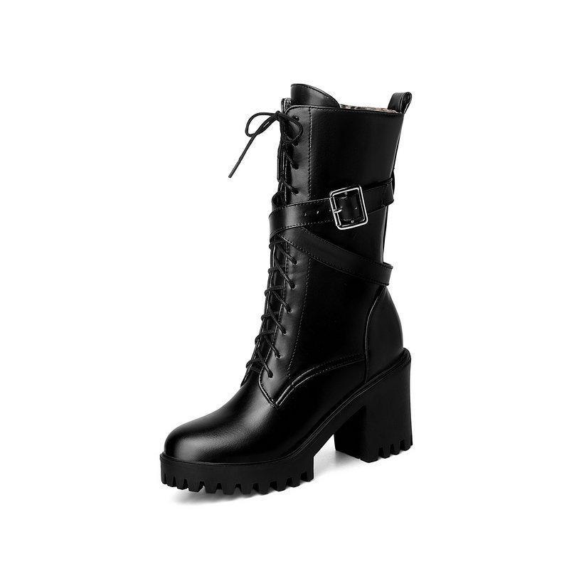 Lace Up British Style Martin Boots