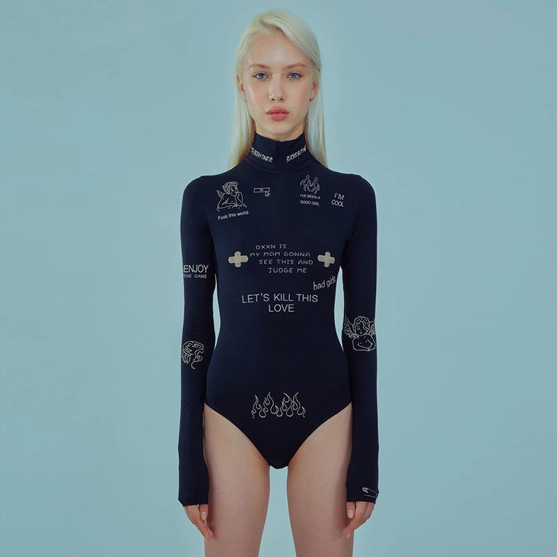 Bestkawaii-Long-Sleeve-Fashion-Embroidery-Letter-Printed-Sexy-Bodysuit