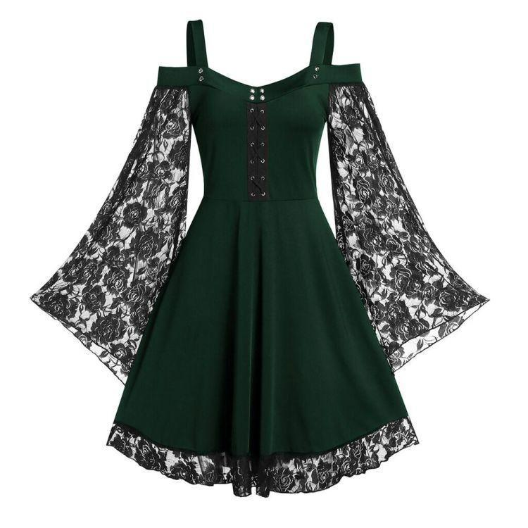 Bestkawaii-Puff-Sleeve-Sexy-Lace-Dress
