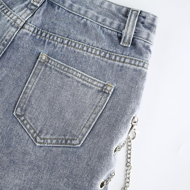 Bestkawaii-Split-Chain-Denim-Shorts